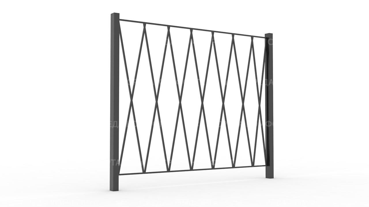 Забор из профильной трубы ZBR0167