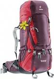 Картинка рюкзак туристический Deuter Aircontact 60+10 Sl Aubergine-Cranberry -
