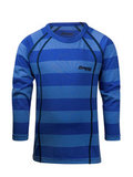 Bergans термобелье футболка 1975 Fjellrapp Kids Shirt Sky Blue Striped