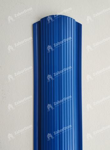 Евроштакетник металлический 110 мм RAL 5005 фигурный 0.5 мм
