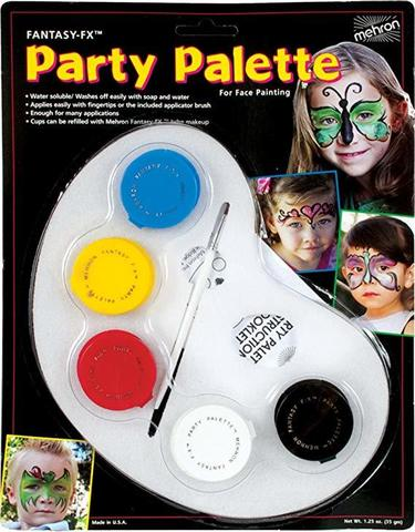 MEHRON Палитра грима на водной основе Fantasy FX Party Palette (5 цветов по 7 г)