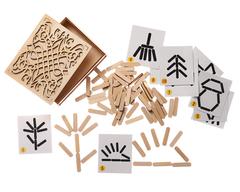 Игра для развития мышления Мозаика из палочек Мой мир, Smile decor