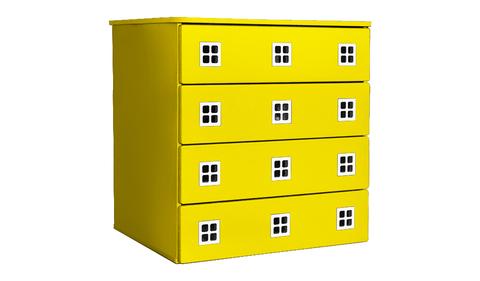 Комод для детской комнаты в стиле Амстердам желтый