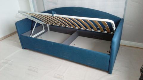 Велюр синий встроенный ящик