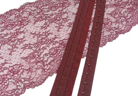 Крючки-петли на ленте, бургунди, (Арт: KPL-1006)