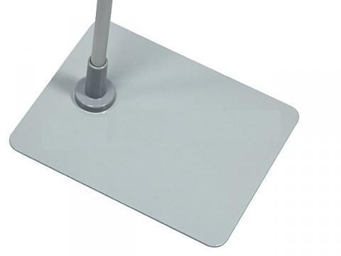 Подставка металлическая прямоугольная с пластиковой втулкой для трубок Ø 12 мм BASE-ML