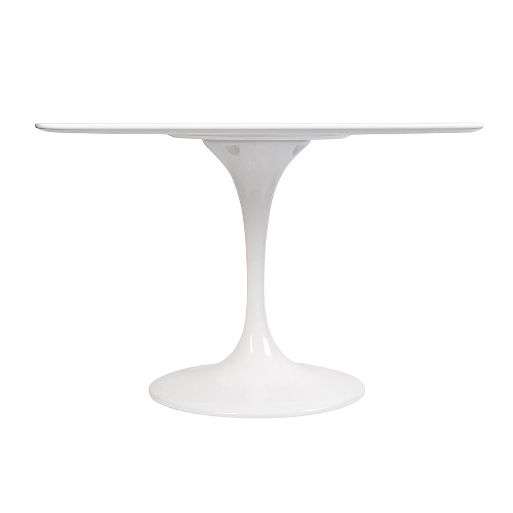Стол Eero Saarinen Style Tulip Table MDF белый D110 глянцевый - вид 2