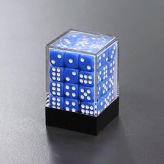 Набор шестигранных кубиков синий (36 штук)