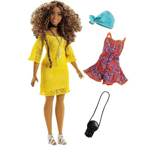 Барби Fashionistas 85 Брюнетка в Желтом Платье
