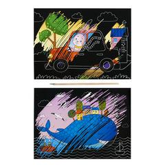 Гравюры Каляка-Маляка ПУТЕШЕСТВИЯ 2 картинки А5 в наборе/ГКМП