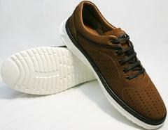 Летние спортивные туфли мужские Vitto Men Shoes 1830 Brown White