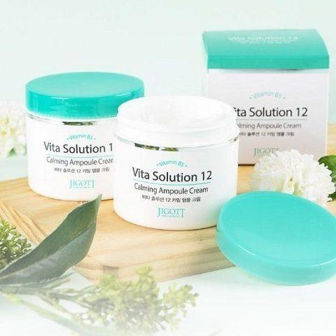 JIGOTT Vita Solution 12 Успокаивающий ампульный крем, 100 мл