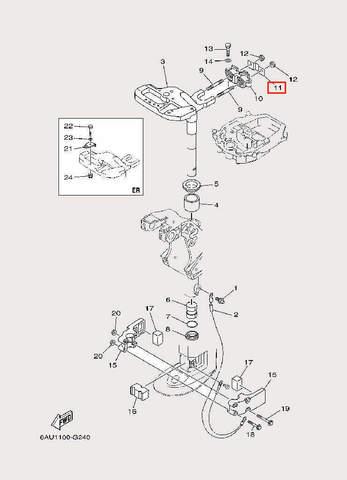 Пластина для лодочного мотора F9,9 Sea-PRO (22-11)