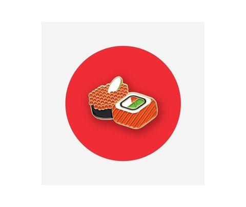 Значок металлический Еда: Роллы