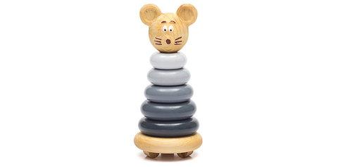Пирамидка цветная «Мышонок»