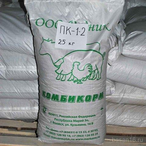 Комбикорм ПК-1-2 для кур-несушек, Родник