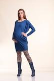 Туника для беременных 07224 синий с серым