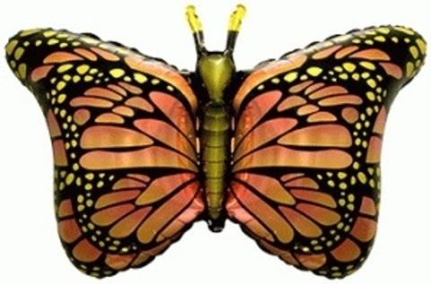 Фольгированный шар Бабочка-монарх оранжевая