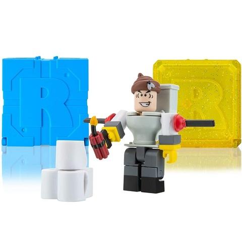 Роблокс Экшн-коллекция Мистер Туалет и 2 Кубика Мистери