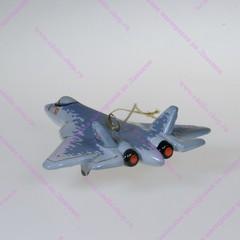Елочная игрушка Самолет Сушка 57
