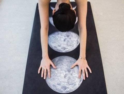 Коврик для йоги Moon Phase 61*0,1-0,3 см из микрофибры и каучука