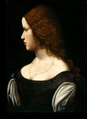 """Репродукция """"Леонардо Да Винчи - Портрет молодой женщины"""""""