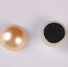 Магнит для платка бежевый жемчужина (магнитная брошь) mg-23-7