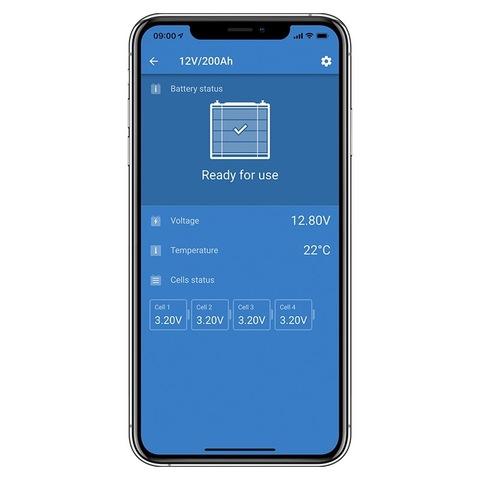 Управление со смартфона VictronEnergy Lithium Smart 12,8V/100Ah