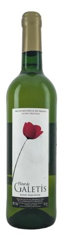 Вино Флёр де Галети столовое белое п/сл. 0,75 л 11% Франция