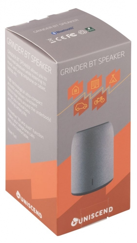 Grinder Bluetooth Speaker, grey