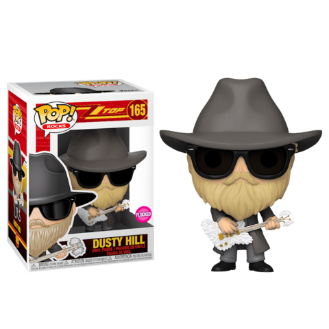 Dusty Hill (ZZ Top) Funko Pop! Vinyl Figure (Flocked)
