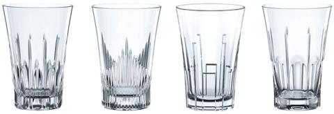 CLASSIX - Набор стаканов 4 шт. для воды высоких 344 мл стекло (set 4 pcs)