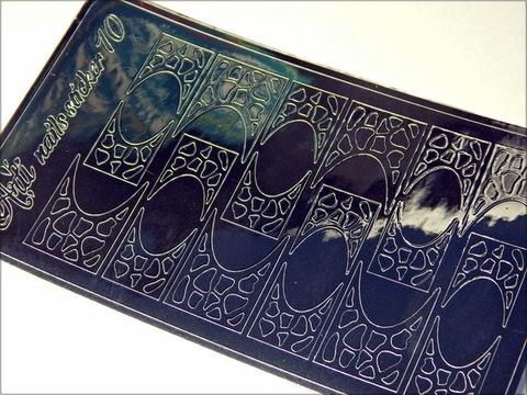 Металлизированные наклейки Arti nails Stiker цвет серебро №10 купить за 100руб