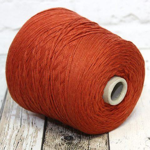 Хлопковый шнурок FILATI RICCIO DINAMICO 180 кирпично-оранжевый