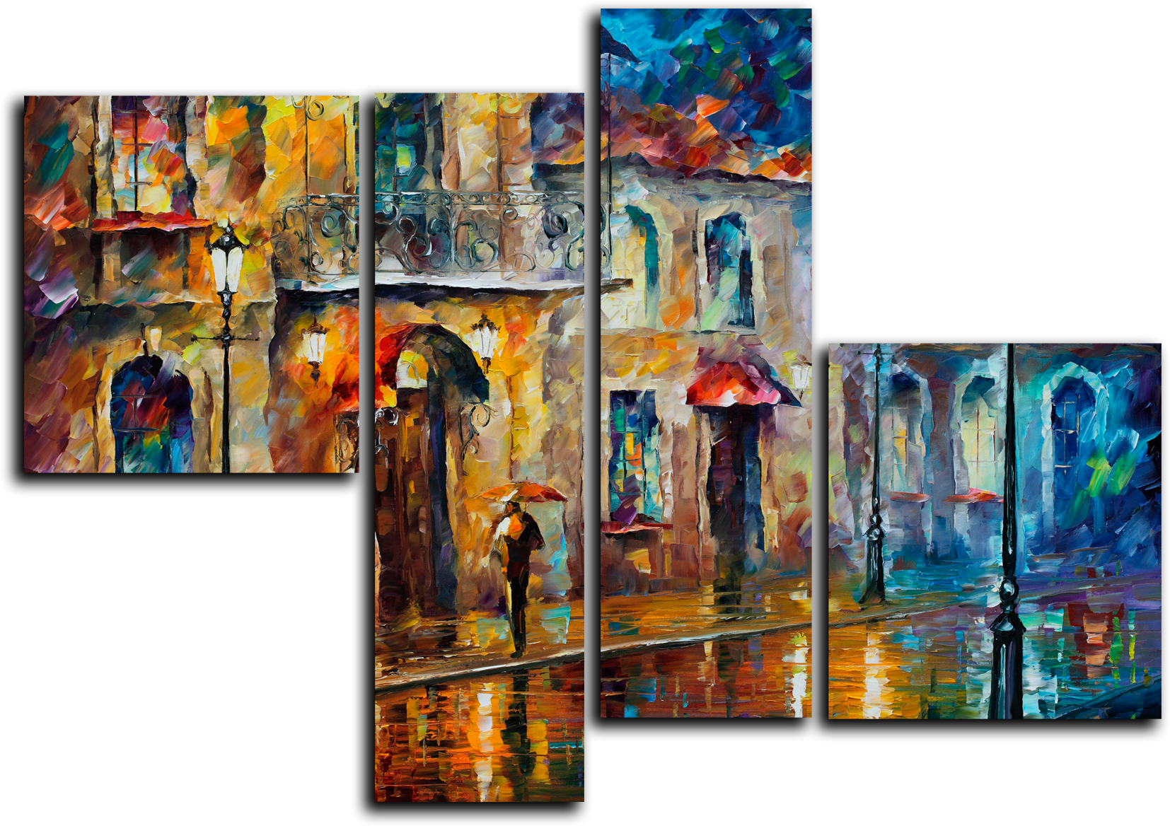 """Абстракция Модульная картина """"Дождливый вечер """" М689.png"""