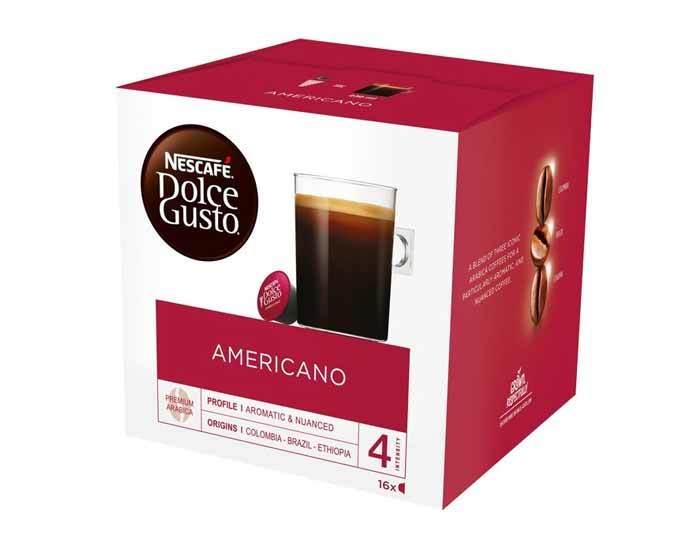 Кофе в капсулах Dolce Gusto Caffe Americano, 16 капсул