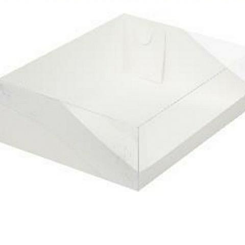 Коробка для торта с пластиковой крышкой 31х23×10см.