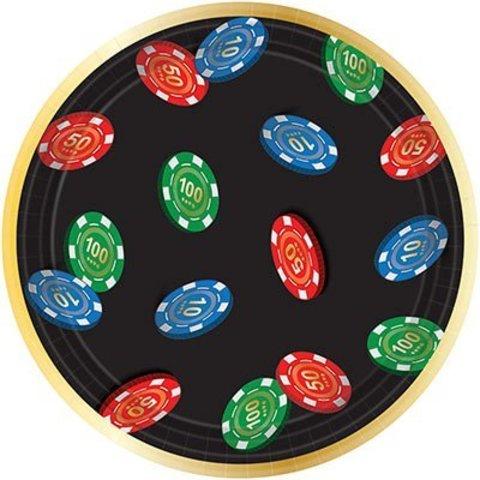 Тарелки малые Казино, 8 штук