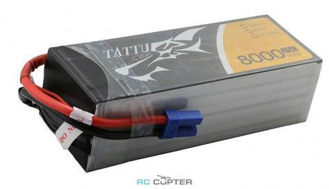 АКБ Gens Ace TATTU 8000mAh 22.2V 25C 6S1P Lipo Battery Pack