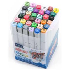 Mazari Lindo набор маркеров для скетчинга 36 шт двусторонние спиртовые кисть/долото 1.0-6.2 мм (основные цвета 2)