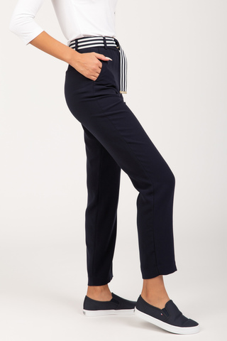 Брюки CREPE BELTED TAPERED ANKLE PANT Tommy Hilfiger