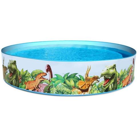 Детский каркасный бассейн Bestway 55001 Fill 'N Fun Dinosaur (244х46 см) / 22656