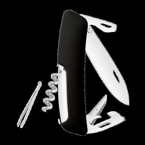 Швейцарский нож SWIZA D03 Standard, 95 мм, 11 функций, черный