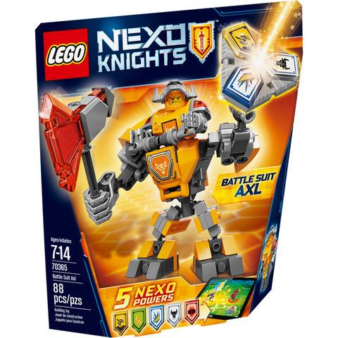 LEGO Nexo Knights: Боевые доспехи Акселя 70365 — Battle Suit Axl — Лего Нексо Рыцари