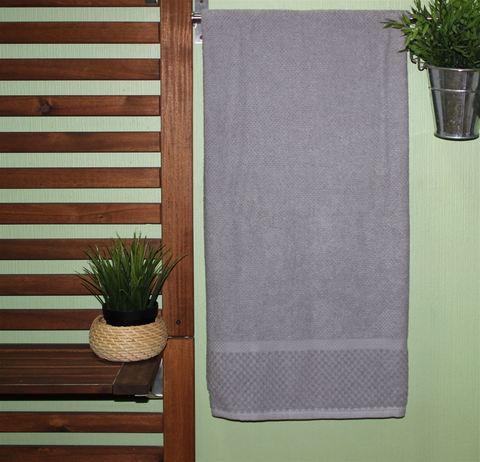 Полотенце DO&CO махровое жаккард 70х140 (1 шт.) SEVAKIN цвет серый
