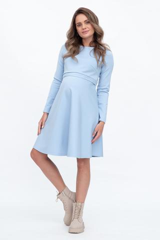 Платье для беременных и кормящих 11749 голубой