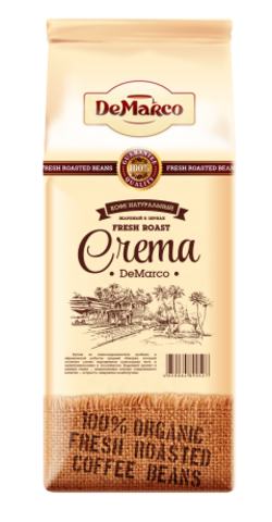 Кофе De Marco Fresh Roast Crema в зернах 1 кг