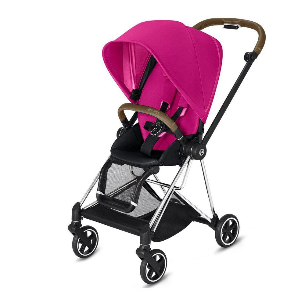 Cybex Mios прогулочная Прогулочная коляска  Cybex Mios Fancy Pink chrome mios-chrome-fancy-pink-black-seat.jpg