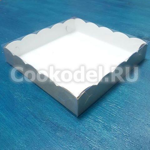 Коробка двусторонняя Ажурная с фиксацией дна 15,5х15,5х3 см