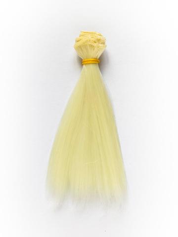 Волосся для ляльки, Let's make треси 15 см. Світлий Блонд